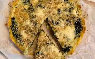 [FOOD] Tarte épinards et son fond de tarte à la semoule de maïs
